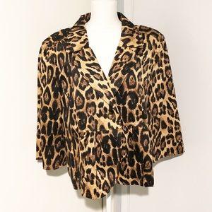 NWOT Monroe & Main Leopard Blazer